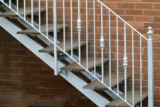 Galvanized stair rail