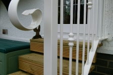 Bespoke handrail in white