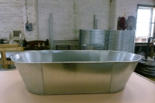 Tin bath front view