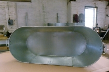 Tin bath inside