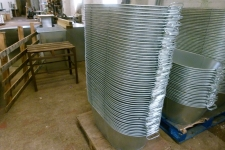 Tin baths ready for shipping to a trade customer